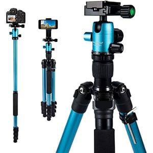 MACTREM 21.5-62.5 Professional Camera Tripod DSLR for Travel