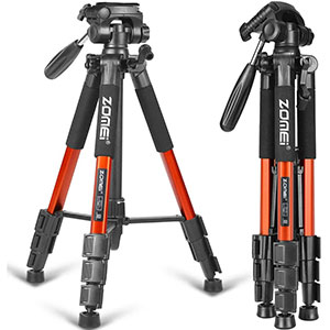 ZOMEI 58 Compact Aluminum Camera Tripod for DSLR with Carry Case