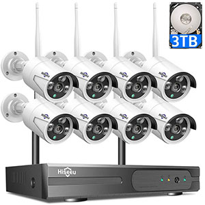 8 Channel HD Wireless IP Security Camera Motion Alert