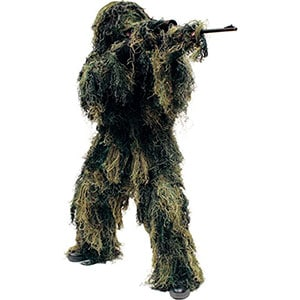 Ghillie Suit with jacket, hood, pants,and gun wrap