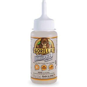 Gorilla Clear Glue, 3.75 ounce Bottle, Clear