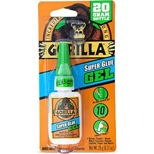 Gorilla Super Glue Gel for vertical surfaces