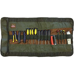 Bucket Boss Tool Roll, Canvas absorbs tool oil