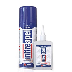 MITREAPEL Super CA Glue with Spray Adhesive Activator