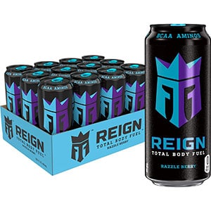 Reign Total Body Fuel, Razzle Berry, Fitness & Performance Drink, 16 Oz (12 Pack)