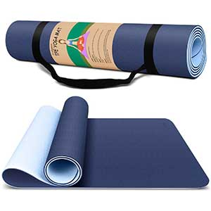 Dralegend TPE  Exercise Mat For HIIT | Sweat-Proof | 72x26