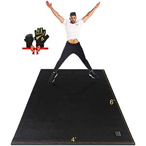 Gxmmat Exercise Mat For HIIT | Non-Slip | Durable | 6x4'