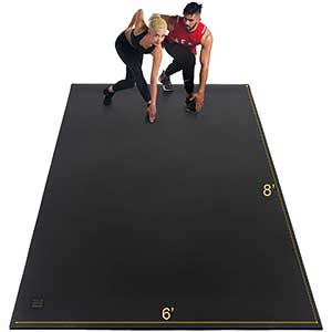 Gxmmat Thick Exercise Mat for HIIT | Non-Slip | 6'x8'x7mm