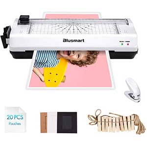 Blusmart   5 in 1 Laminator for Homeschool   Trimmer   20 pouches