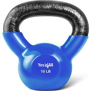 Yes4All Kettlebell for Beginners | Vinyl Coated