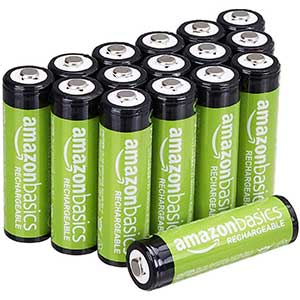 Amazon Basics AA Performance Rechargeable Batteries | Pre-Charged