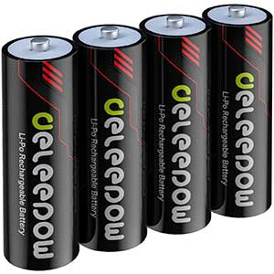 Deleepow AA Rechargeable Lithium Batteries | Smart Security Chip