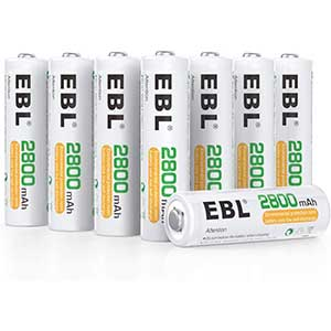 EBL AA Rechargeable Batteries | 2800 mAh Ready2Charge
