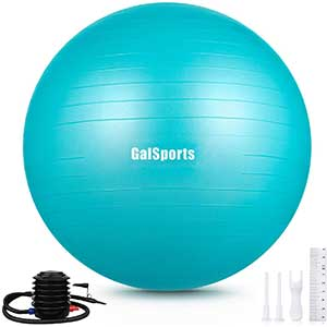 GalSports Stability Fitness Ball   Easy To Inflate   Quick Pump