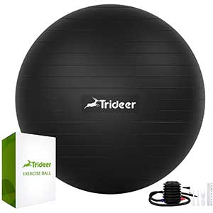 Trideer Heavy Duty Swiss Ball   Extra Thick and Anti Burst